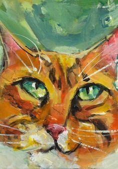 Mr. Max - contemporary cat portrait by artist Joanie Springer