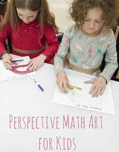 This simple one point perspective art activity for kids offers a fantastic jumping off point for teaching kids about the way math and art intersect. One Point Perspective, Perspective Art, Educational Activities For Kids, Art Activities, Steam Activities, Math Art, Fun Math, Drawing For Kids, Art For Kids