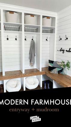 Mudroom Laundry Room, Laundry Room Remodel, Laundry Room Design, Bench Mudroom, Laundry Room Makeovers, Farmhouse Laundry Rooms, Mudroom Storage Ideas, Small Mudroom Ideas, Closet Mudroom