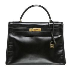 7f696b07a0dcb Hermes Kelly 32 Bag Noir Box Leather Hermes Käsilaukut