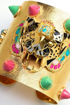 A tiger cuff with enamel from the Manish Arora Amrapali Spring/Summer 2013