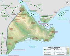Map of the Ottoman and Byzantine forces during the siege of Constantinople, from 6 April 1453 to 29 May French version. Ancient Greek City, Ancient Rome, Ancient Map, Siege Of Constantinople, Greek Soldier, Turkish Soldiers, Pakistan Travel, The Siege, Byzantine Art