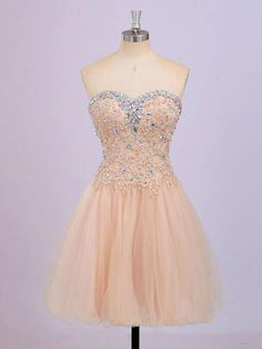 Princess Sweetheart neck Tulle with Lace Appliqued Homecoming Dresses,apd1606
