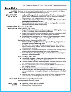 call center customer support resume