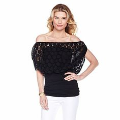 """Colleen Lopez """"All Eyes On You"""" Eyelet Top at HSN.com"""