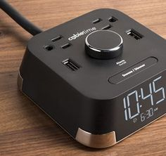 CubieTime - Awesome alarm clock!!!  Great for the charging your phone at night!  2 power outlets and 2 usb charging ports!