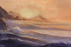 "Buy ""Ocean View"" Large Seascape Painting, Realistic Ocean Art, XL Oil Painting on Canvas, Golden Sunset Sea Painting,, Oil painting by Eva Volf on Artfinder. Discover thousands of other original paintings, prints, sculptures and photography from independent artists."