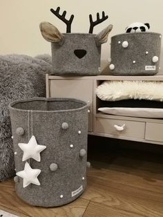 Baby themed Scandinavian storage baskets