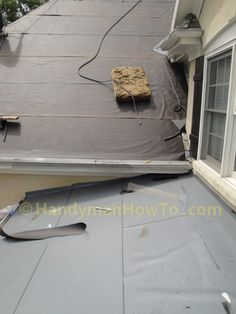 Low Pitch Porch Roof Covered with Ice and Water Shield Fascia Board, Low Pitch, Roof Flashing, Porch Roof, Roof Installation, Roof Covering, Porches, Ice, Construction