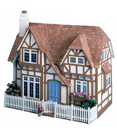 @Overstock - The Glencroft Dollhouse Kit - Dollhouse enthusiasts will love this Tudor dollhouse kit. This dollhouse is simple to assemble, and features authentic details such as beamed ceilings and window seats. A spacious interior lets you install dollhouse furnishings of your choice.  http://www.overstock.com/Sports-Toys/The-Glencroft-Dollhouse-Kit/612799/product.html?CID=214117 $72.99