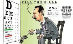 Una vignetta di Comic4Syria ironizza sulle capacità di lettura di Assad. In esclusiva su The Post Internazionale.