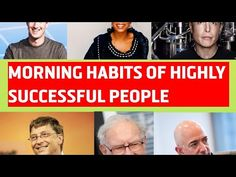 Morning Habits of highly successful people.Motivational,inspirational video of billionaire Successful Business, Successful People, Billionaire Sayings, Morning Habits, Inspirational Videos, Success Quotes, Life Lessons, Motivational, Board
