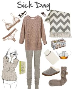 """""""Sick Day"""" by beigs on Polyvore"""