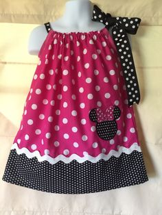 Pink Minnie Mouse pillowcase Dress by CuteCoutureByShelley on Etsy https://www.etsy.com/listing/245067606/pink-minnie-mouse-pillowcase-dress