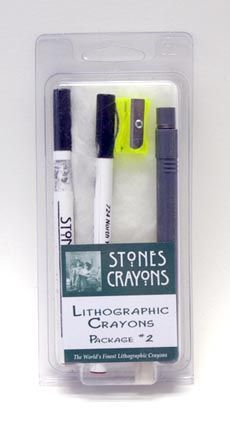 Stones Starter Pack No. 2As Starter Pack No. 1, except a rubbing crayon replaces the tablet crayon.  This package contains the following assortment:  1 x ¼ inch holder 1 x ¼ inch crayon number 1 1 x ¼ inch crayon number 3 1 x ¼ inch crayon number 5 1 x medium rubbing crayon 1 x sharpener 1 x deletion hone.