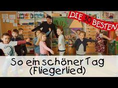 So ein schöner Tag (Fliegerlied) - Singen, Tanzen und Bewegen || Kinderlieder - YouTube Kindergarten Portfolio, Kindergarten Songs, Youtube Share, Action Songs, We Can Do It, Kids Songs, Singing, Education, School