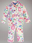 John Lewis Bold Floral Pyjamas, Cream