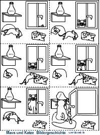 Maus und Katze Bildergeschichte Leo Lionni, Diagram, Comics, School, Art, Kids Pages, Kindergarten, Elementary Schools, Cats