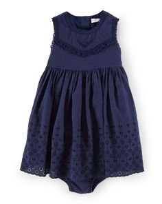 Cotton Eyelet Dress & Bloomer - Baby Girl Dresses & Rompers - RalphLauren.com