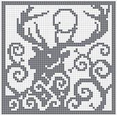 Ravelry: Spirit Deer Square Chart pattern by Melanie Nordberg