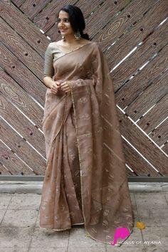 Simple Sarees, Trendy Sarees, Stylish Sarees, Fancy Sarees, Organza Saree, Gold Silk Saree, South Indian Bride Saree, Kerala Saree Blouse Designs, Bridesmaid Saree