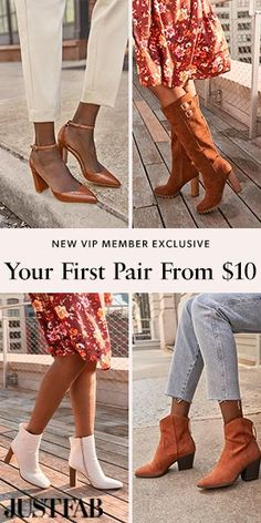 New VIP Member Exclusive! Get your first style for $10 with JustFab!! I seriously love this company.  They send you gorgeous shoes every month, customized to your own Style Profile! Get your first pair of shoes for just $10 with easy returns or exchanges. | gift ideas for yourself | gift ideas for best friend | shoe lover gift ideas | gift ideas for girlfriend birthday | last minute birthday gifts for friends | Christmas gift ideas for best friend | #aff Last Minute Birthday Gifts, Friend Birthday Gifts, Gifts For Wife, Gift For Lover, Christmas Gifts For Friends, Girlfriend Birthday, Cute Shoes, Shoes Online, Riding Boots