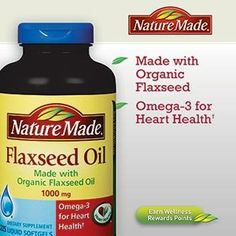 Nature Made Organic Flaxseed Oil Omega3 For Heart Health 1000 Mg 225 Softgels * BEST VALUE BUY on Amazon