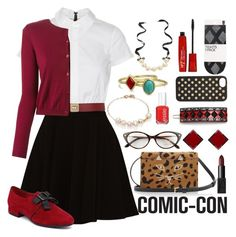 """""""Prim Harley Quinn Outfit"""" by orange-seltzer ❤ liked on Polyvore"""