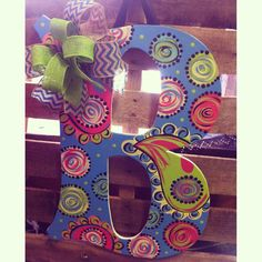 Large Door Hanger Letters with Bows (or without) on Etsy, $44.00