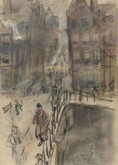 Amsterdams stadsgezicht, Isaac Israels, 1875 - 1934
