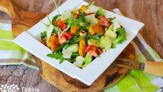 Zelerový šalát - Tinkine recepty Cobb Salad, Tacos, Mexican, Ethnic Recipes, Food, Meals, Yemek, Eten