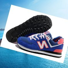 Italian Yacht Club New Balance 574 Shoes Blue Orange White Cheap Sale HOT SALE!HOT PRICE!