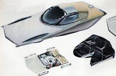 1963: Forecast Of Cars To Come :: Drawings By Syd Mead