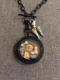 Origami Owl The Walking Dead Daryl Dixon locket, created by me!