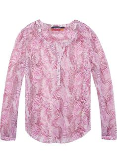 Pink Printet Bluse 136799 Maison Scotch Viscose Sheer Tunic Top