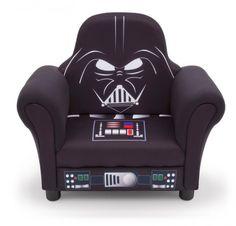 Delta Children Star Wars Deluxe Upholstered Chair, Darth Vader Kids Recliner Chair as a Gift Star Wars Film, Kids Playroom Furniture, Toddler Furniture, Funky Furniture, Playroom Ideas, Furniture Design, Star Wars Bedroom, Star Wars Decor, Delta Children
