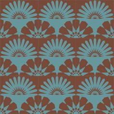 KISMET ALBA pattern cement tile: available in custom color combinations.  NOTE: this is a 12
