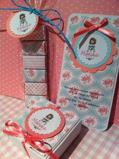 detalles comuniones:recordatorio, y detalles invitados comunion First Communion Party, Ideas Para Fiestas, Pink Parties, 3d Projects, Diy Paper, Gift Wrapping, Packaging, Baby Shower, Invitations