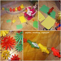 Csipke, madzag, ragasztó: farsangi dekoráció, bohócok Crafts, Manualidades, Handmade Crafts, Craft, Arts And Crafts, Artesanato, Handicraft