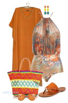 Beach Fun by rosipolooyas on Polyvore featuring moda, Zimmermann, Tommy Bahama, NAKAMOL and Versace