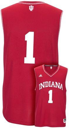 adidas Men's Indiana Hoosiers Replica Basketball Jersey