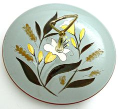 Stangl Pottery Serving Tray with Handle  Golden by EitherOrFinds, $14.00