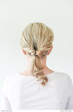 Easy DIY for unique pony tail | Photograph by Chantall Marshall | Twisted Updo, Easy Peasy, Diy Hairstyles, Beauty Skin, Ponytail, Bridal Hair, Easy Diy, Photograph, Fotografie