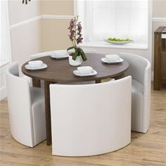 Lexus Gloss White Round Dining Table And 4 Black Sophia Chairs ...