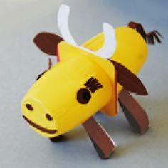 Fabriquer une vache en pots recylés