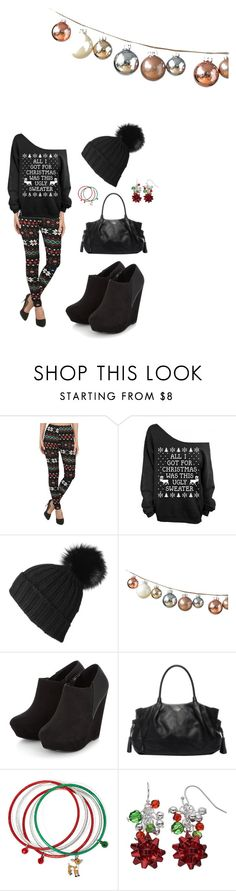 """""""Christmas Sweater"""" by aowens99 on Polyvore featuring DwellStudio and Kate Spade"""