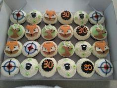 Hunting theme cupcakes