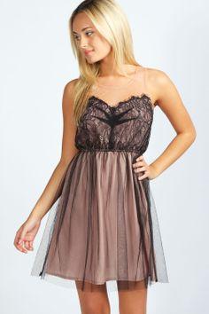 boohoo Holly Lace and Mesh Tutu Dress