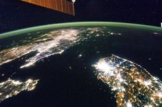 Korean Peninsula Seen From Space Station