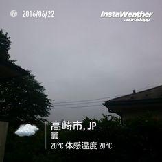 おはよーございます昨日と同じような曇り空  #gunma #takasaki #群馬県 #高崎市 #みんなのIT #なみぶたどっとねっと #namibuta